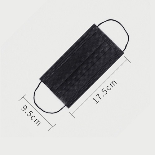 50 Pack Disposable Black Surgical Mask