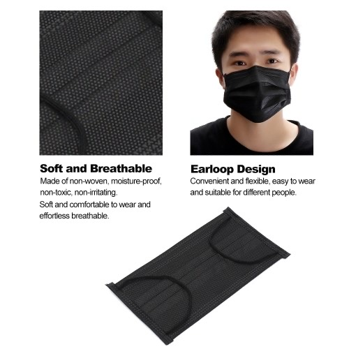 Black Face Mask 3 Pack